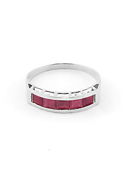 QP Jewellers 2.50ct Ruby Prestige Ring in 14K White Gold