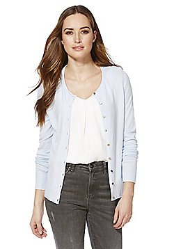 F&F Stretch Cardigan with As New Technology - Light blue
