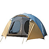 North Gear Camping Holiday Lux Waterproof 6 Man 2 Room Family Tent Blue
