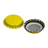 Youngs Pack of 100 Crown Caps for Beer- Yellow