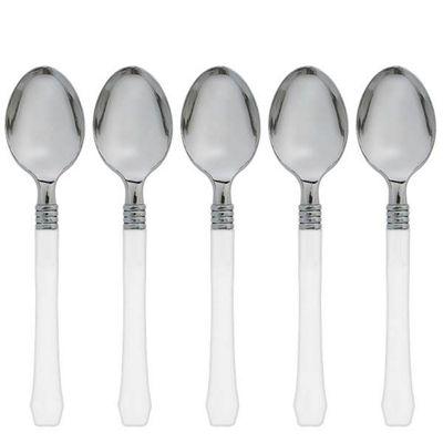White Premium Plastic Spoons - 20 Pack