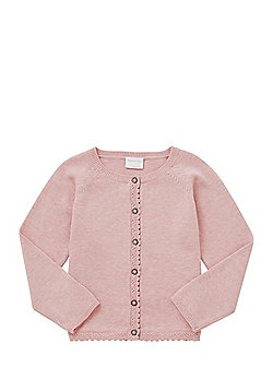 F&F Scalloped Edge Cardigan with As New Technology - Pink