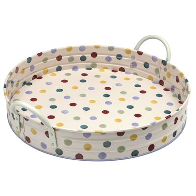 Emma Bridgewater Polka Dot Large Round Tray with Handles