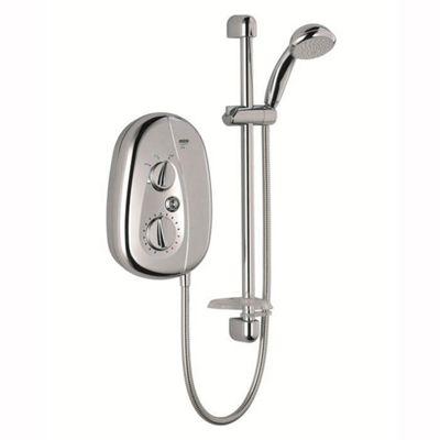 Mira Vie 10.8 kW Electric Shower, 5 Spray Handset, Chrome