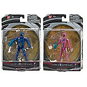 "Power Rangers Movie 5"" Action Figure Bundle - Blue Ranger & Pink Ranger - 2 Items Supplied"