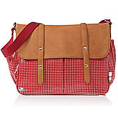 Isoki Monaco Messenger Changing Bag Cherry Cross