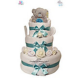 Deluxe Me to You Tatty Teddy Baby Nappy Cake with Keepsake Capsule