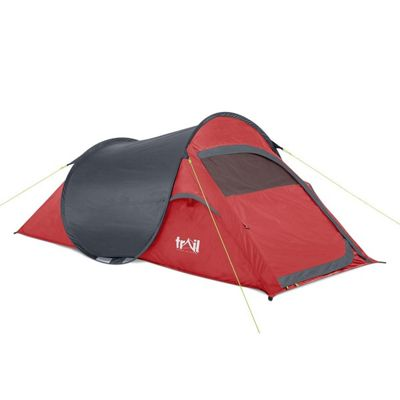 Trail SS 2-Man Waterproof Pop-Up Tent - Red & Pop Up Tents | Sports u0026 Leisure - Tesco
