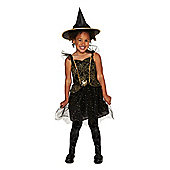 F&F Sparkle Witch Halloween Costume - Black