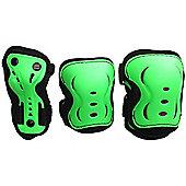 SFR Essentials Triple Pad Set - Green / Black / Red - Small (age 4 - 7)