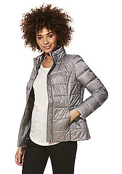 F&F Lightweight Shower Resistant Padded Jacket - Silver