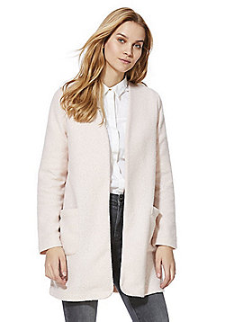 F&F Collarless Boucle Coatigan - Pink