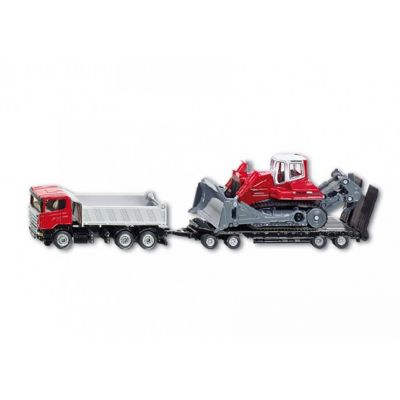 Truck With Trailer And Compact Excavator 1:87 Scale - Siku