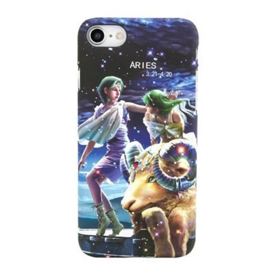 iPhone 8 Aries Star Sign Glow In the Dark Slim Protective Phone Case - Multi