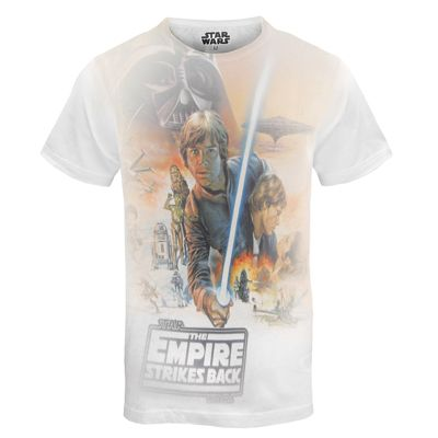 Star Wars Mens T-Shirt Luke Skywalker Orange Small