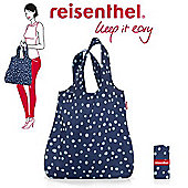 Reisenthel Mini Maxi Shopper Foldup Shopping Bag, Navy Spots AT4044