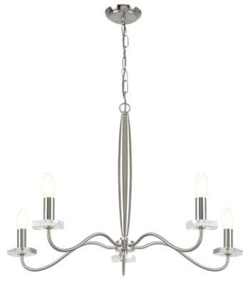 Endon Lighting Five Light Chandelier in Satin Nickel