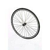 700c Road Rear Alloy Black Q/R Wheel D/W Cassette