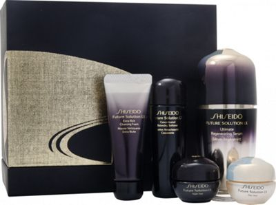 Shiseido Future Solution LX Gift Set 30ml Ultimate Regenerating Serum + 25ml Concentrated Balancing Softener + 15ml Extra Rich Cleansing Foam + 6ml