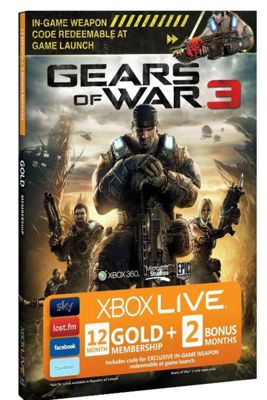 Xbox Live - Gears of War 12 + 2 Months Free Gold Card
