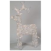 LED Outdoor Christmas Acrylic Reindeer - Warm White - 90cm