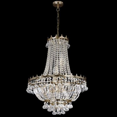 Stylish Light Gold Crystal Chandelier - Contemporary Design