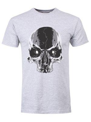 Cracked Skull Grey Men's T-shirt