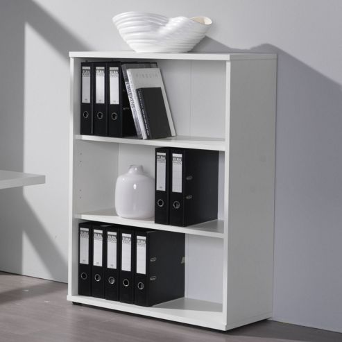 Modal Mura Two Shelf Bookcase in White Melamine
