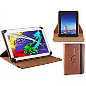 Navitech Brown Faux Leather Case Cover With 360 Rotational Stand For The Acer iconia One 10 B3 A30 and B3 A20 10-inch Tablet