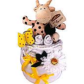 2 Tier Unisex Giraffe Baby Nappy Cake