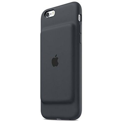 Apple Silicone Elastomer Smart Battery Back Cover Case for iPhone 6/6S - Charcoal Grey