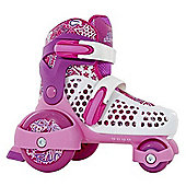 SFR Stomper Adjustable Junior Girl's Skates - White/Pink - Pink