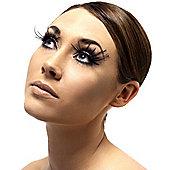 Smiffy's - Eyelashes - Black Plume Feathers