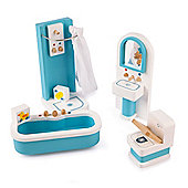 Tidlo Wooden Doll's House Bathroom Furniture Set