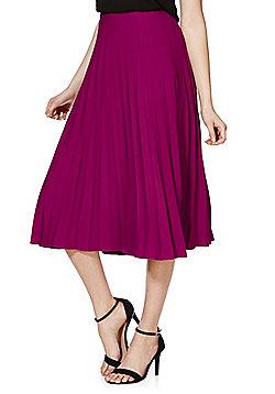 F&F Signature Pleated Midi Skirt - Magenta