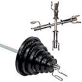 Body Power 155 Kg Olympic Set & Olympic Dumbbell handles