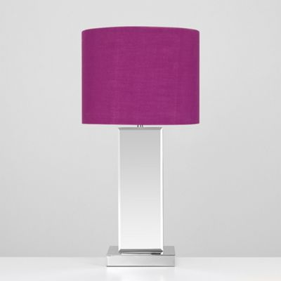 Savoy Bevelled Mirror LED Touch Table Lamp - Purple