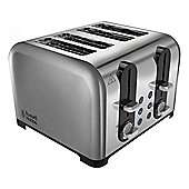 Russell Hobbs 22400 4-Slice Toaster, with Defrost Mode, and 1500W, in Stainless Steel