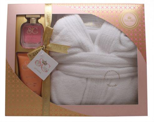 Style & Grace Utopia Extravagant Robe Set 50ml EDP + 150ml Body Lotion + Bath Robe (One Size) For Women