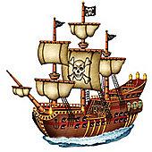 Pirate Ship Card Cutout - 78cm
