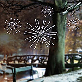 LED Light Up Outdoor Christmas White Sparkle Ball Lights - Pack of 4 - 30cm