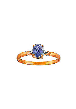 QP Jewellers Diamond & Tanzanite Allure Ring in 14K Rose Gold - Size Y 1/2