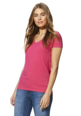F&F Short Sleeve T-Shirt with As New Technology Pink 16