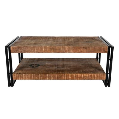 Homescapes Reclaimed Wood Large Coffee Table Industrial Furniture Range