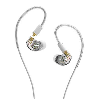 M7 PRO Hybrid Dual-Driver Musician's In-Ear Monitors with Detachable Cables - Clear