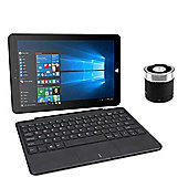 "Linx 1020 10.1"" Tablet with Keyboard & ACME Mini Portable Speaker"