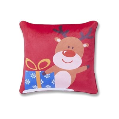 Catherine Lansfield Rudolph Cushion Cover 43X43cm