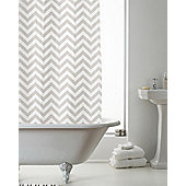 Modern Makeover Chevron Shower Curtain, Natural