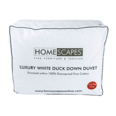 Luxury White Duck Down 13.5 Tog King Size Winter Duvet