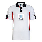 Score Draw England 1998 World Cup Mens Home Football Shirt White - White